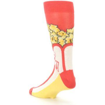Image of Red White Pop Corn Men's Dress Socks (side-2-back-15)