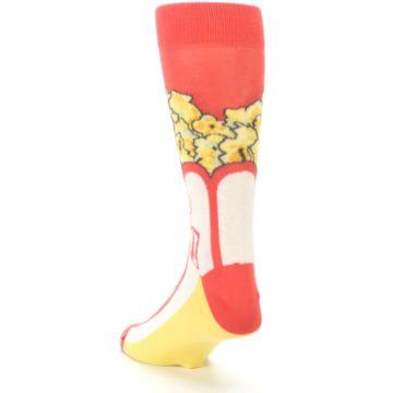 Image of Red White Pop Corn Men's Dress Socks (side-2-back-16)