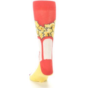 Image of Red White Pop Corn Men's Dress Socks (back-17)