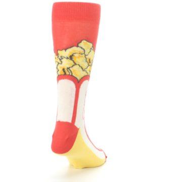 Image of Red White Pop Corn Men's Dress Socks (side-1-back-20)