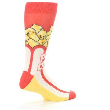 Image of Red White Pop Corn Men's Dress Socks (side-1-23)