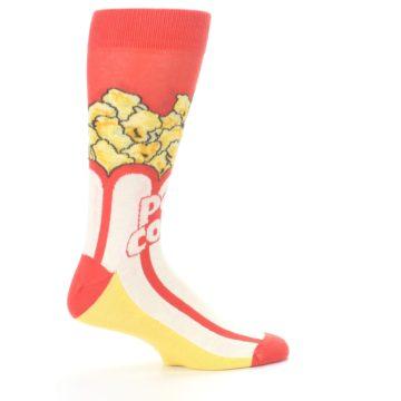 Image of Red White Pop Corn Men's Dress Socks (side-1-24)