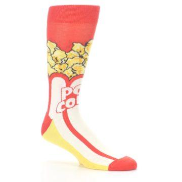 Image of Red White Pop Corn Men's Dress Socks (side-1-26)