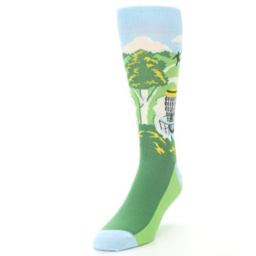 Image of Green Disc Golf Men's Dress Socks (side-2-front-07)