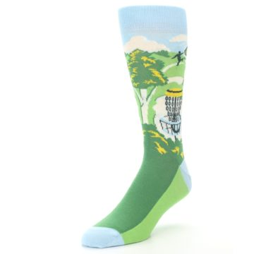 Image of Green Disc Golf Men's Dress Socks (side-2-front-08)