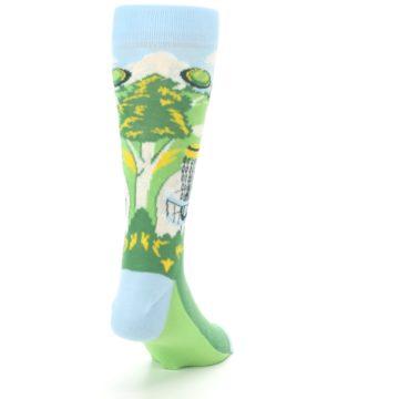 Image of Green Disc Golf Men's Dress Socks (side-1-back-20)