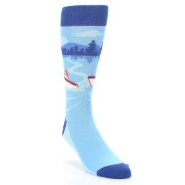 Image of Blue Speedboat Men's Dress Socks (side-1-front-02)