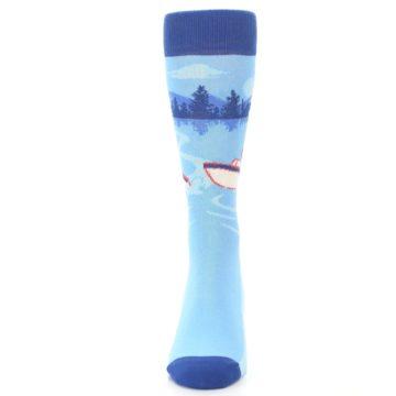 Image of Blue Speedboat Men's Dress Socks (front-05)