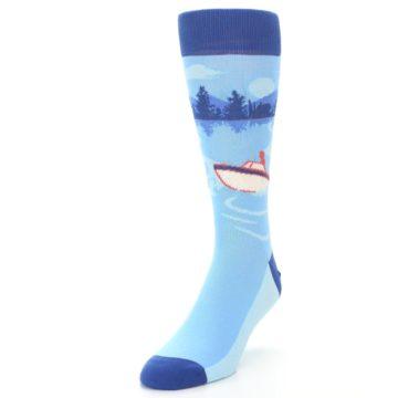 Image of Blue Speedboat Men's Dress Socks (side-2-front-07)