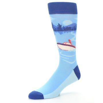 Image of Blue Speedboat Men's Dress Socks (side-2-09)