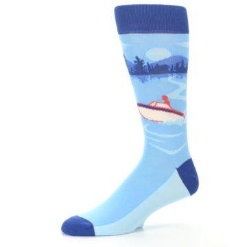 Image of Blue Speedboat Men's Dress Socks (side-2-10)
