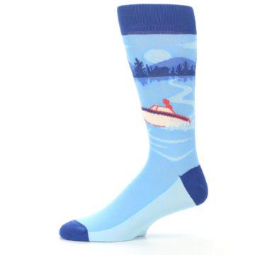 Image of Blue Speedboat Men's Dress Socks (side-2-11)