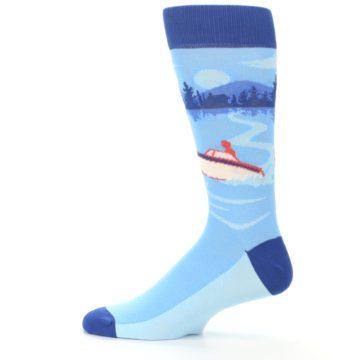 Image of Blue Speedboat Men's Dress Socks (side-2-12)