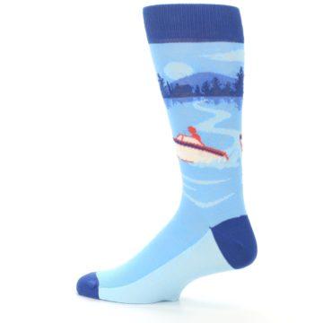 Image of Blue Speedboat Men's Dress Socks (side-2-13)