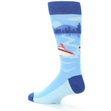 Image of Blue Speedboat Men's Dress Socks (side-2-back-14)