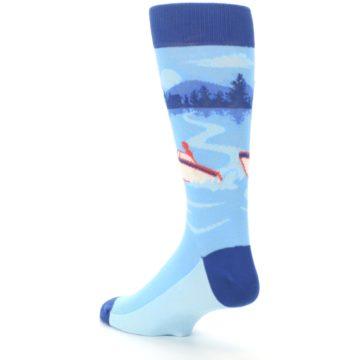 Image of Blue Speedboat Men's Dress Socks (side-2-back-15)