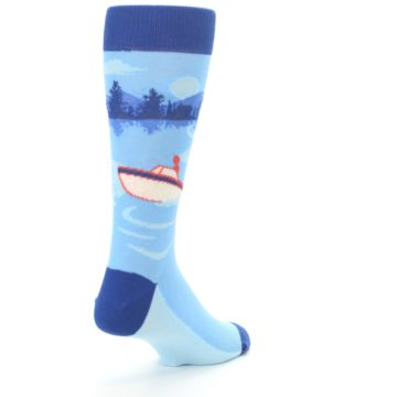 Image of Blue Speedboat Men's Dress Socks (side-1-back-21)