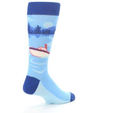 Image of Blue Speedboat Men's Dress Socks (side-1-back-22)