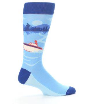 Image of Blue Speedboat Men's Dress Socks (side-1-24)