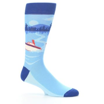 Image of Blue Speedboat Men's Dress Socks (side-1-25)