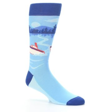 Image of Blue Speedboat Men's Dress Socks (side-1-26)