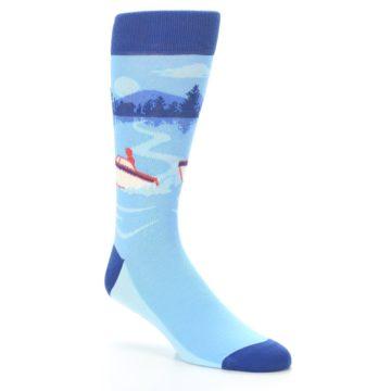 Image of Blue Speedboat Men's Dress Socks (side-1-27)
