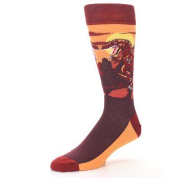 Image of Maroon Red Raptor Men's Dress Socks (side-2-09)