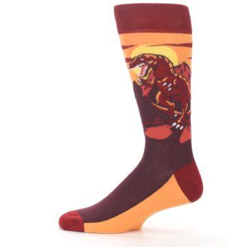 Image of Maroon Red Raptor Men's Dress Socks (side-2-12)