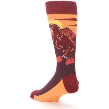 Image of Maroon Red Raptor Men's Dress Socks (side-2-back-15)