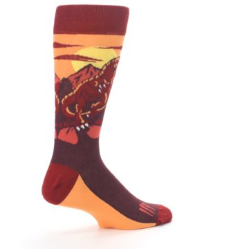 Image of Maroon Red Raptor Men's Dress Socks (side-1-23)
