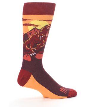 Image of Maroon Red Raptor Men's Dress Socks (side-1-24)
