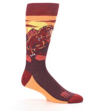 Image of Maroon Red Raptor Men's Dress Socks (side-1-25)