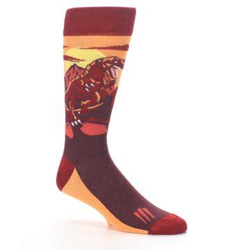 Image of Maroon Red Raptor Men's Dress Socks (side-1-26)