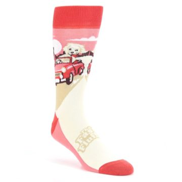 Image of Fast and the Fluffiest Puppy Dog Men's Dress Socks (side-1-front-01)