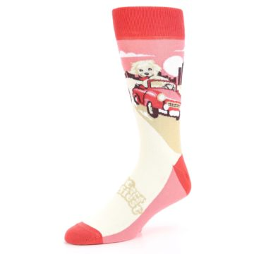 Image of Fast and the Fluffiest Puppy Dog Men's Dress Socks (side-2-09)