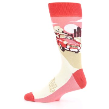 Image of Fast and the Fluffiest Puppy Dog Men's Dress Socks (side-2-12)