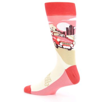 Image of Fast and the Fluffiest Puppy Dog Men's Dress Socks (side-2-13)