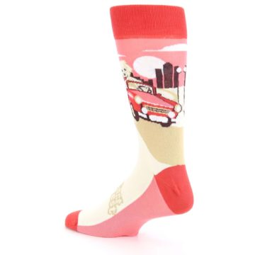 Image of Fast and the Fluffiest Puppy Dog Men's Dress Socks (side-2-back-14)