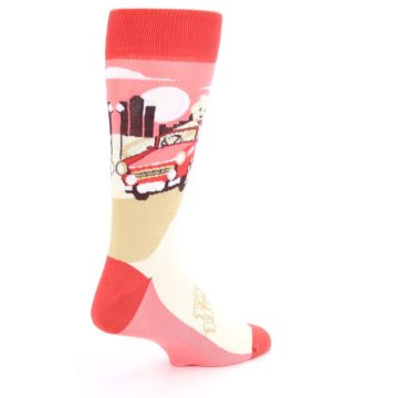 Image of Fast and the Fluffiest Puppy Dog Men's Dress Socks (side-1-back-22)