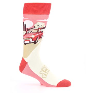 Image of Fast and the Fluffiest Puppy Dog Men's Dress Socks (side-1-25)