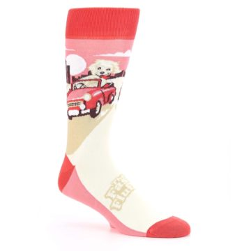 Image of Fast and the Fluffiest Puppy Dog Men's Dress Socks (side-1-26)