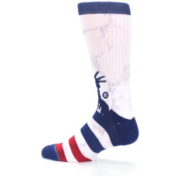 Image of White Blue Red Lady Liberty Men's Casual Socks (side-2-13)