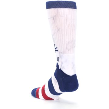 Image of White Blue Red Lady Liberty Men's Casual Socks (side-2-back-15)