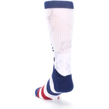Image of White Blue Red Lady Liberty Men's Casual Socks (side-2-back-16)