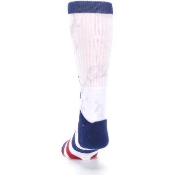 Image of White Blue Red Lady Liberty Men's Casual Socks (back-17)