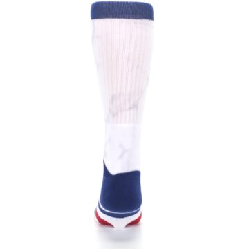 Image of White Blue Red Lady Liberty Men's Casual Socks (back-18)