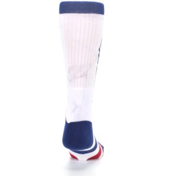 Image of White Blue Red Lady Liberty Men's Casual Socks (back-19)