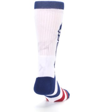 Image of White Blue Red Lady Liberty Men's Casual Socks (side-1-back-20)