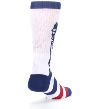 Image of White Blue Red Lady Liberty Men's Casual Socks (side-1-back-21)