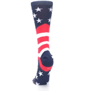 Image of Pink Blue White American Flag Women's Casual Sock (back-17)